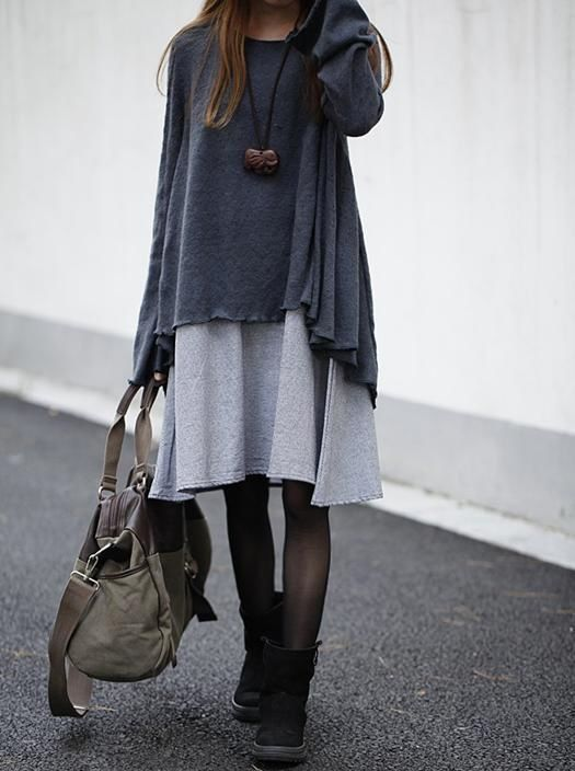 5 ways to wear a gray dress that you will love 4 - 5-ways-to-wear-a-gray-dress-that-you-will-love-4