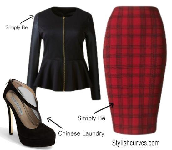 5 ways to wear a plus size plaid skirt 1 - 5-ways-to-wear-a-plus-size-plaid-skirt-1