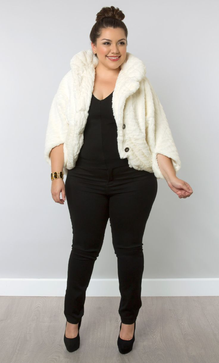 how to combine plus size casual outfits with a faux fur coat 4 - How to combine plus size casual outfits with a faux fur coat