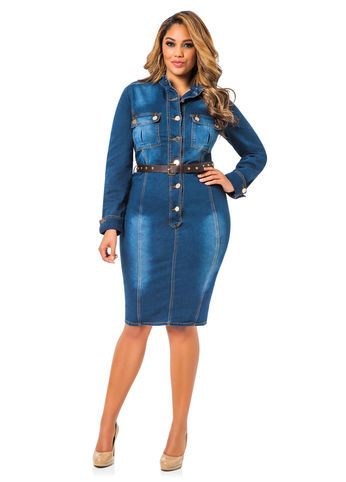How to wear denim dresses without looking frumpy ...