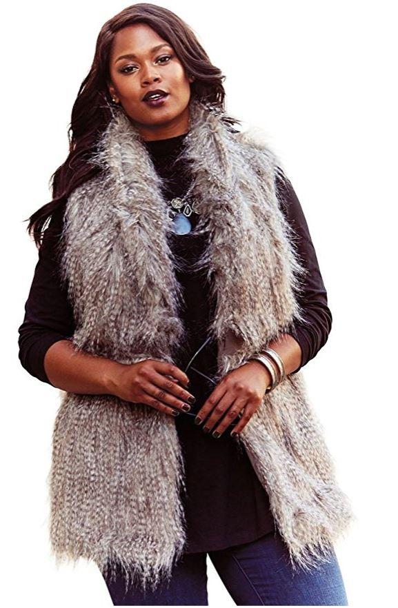 plus size fur vest outfit 4 - plus size fur vest outfit 4