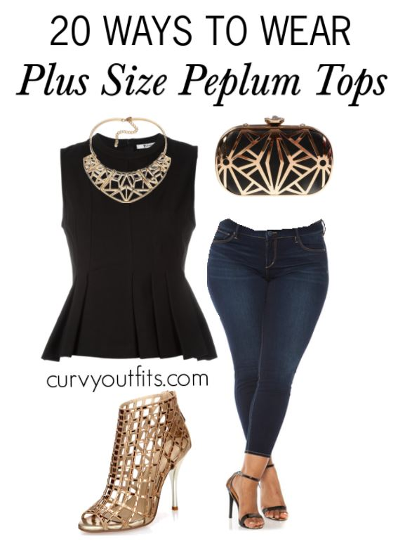 20 WAYS TO WEAR PLUS SIZE PEPLUM TOPS 2 - 20 WAYS TO WEAR PLUS SIZE PEPLUM TOPS 2
