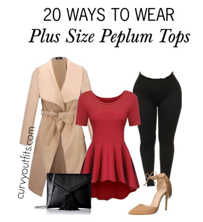15 plus size outfits with peplum tops you can wear too ...