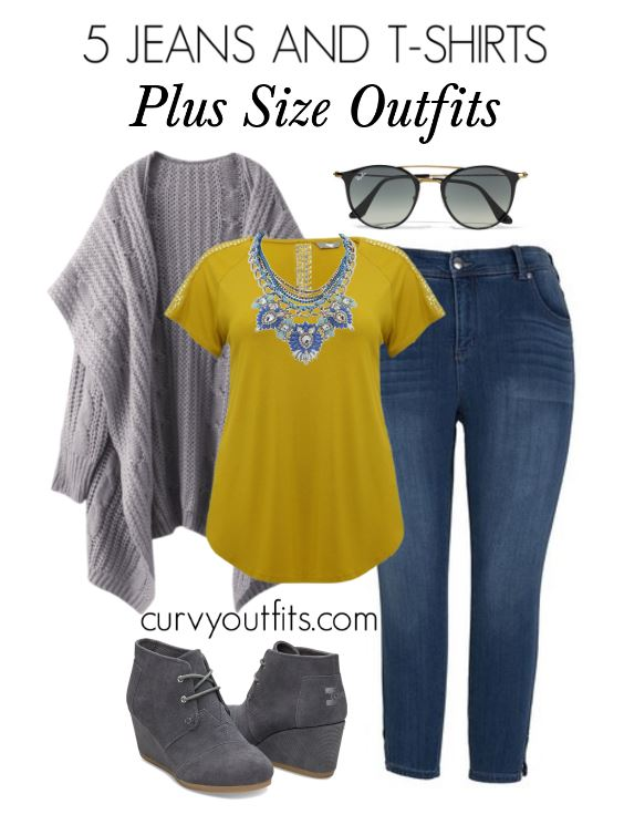 5 jeans and tshirts plus size outfits - 5-jeans-and-tshirts-plus-size-outfits