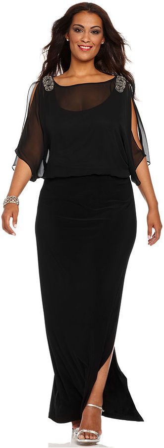 5 plus size black gowns that you will love - 5 plus size black gowns that you will love