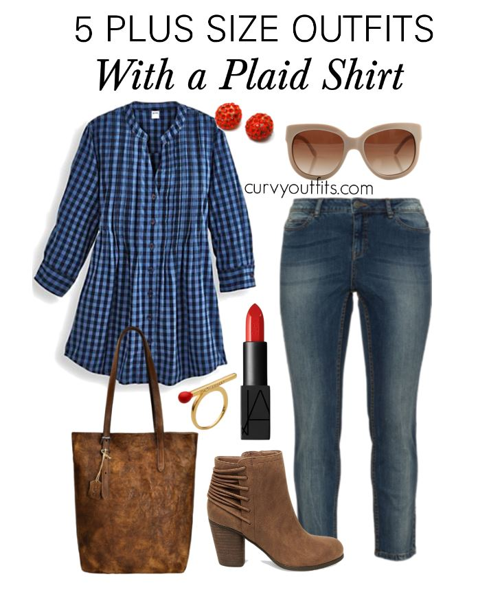 5-plus-size-outfits-with-a-plaid-shirt