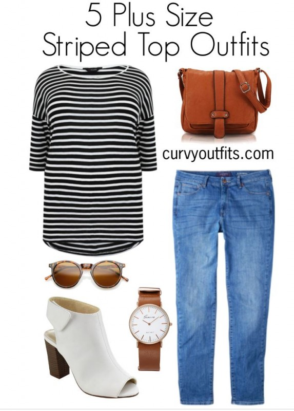 5-plus-size-striped-top-outfits-for-work-1
