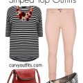 5 plus size striped top outfits for work 2 120x120 - How to wear a plus size striped top at work