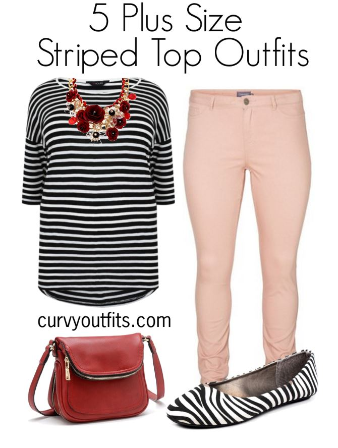 5 plus size striped top outfits for work 2 - 5-plus-size-striped-top-outfits-for-work-2