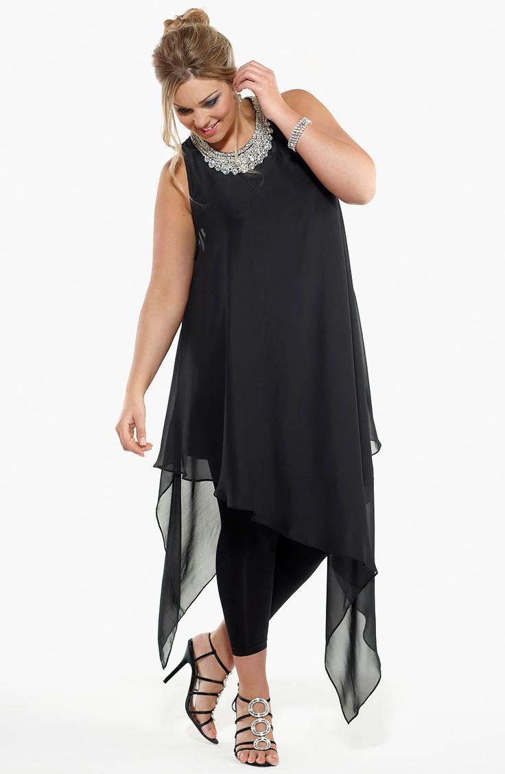 5 stylish ways to wear a black chiffon top 1 - 5-stylish-ways-to-wear-a-black-chiffon-top-1