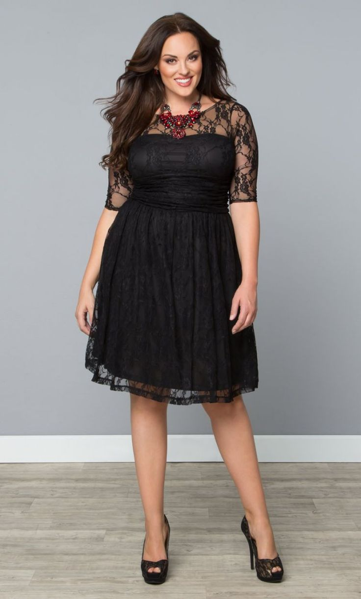 5 Ways To Wear A Black Lace Dress Without Looking Frumpy