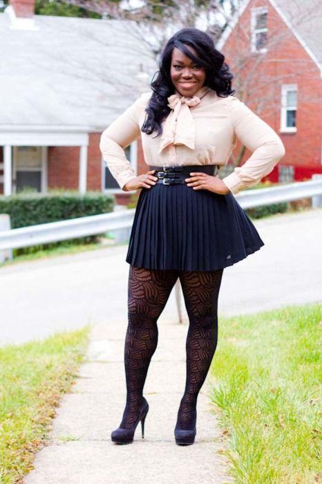 Something Curvy girl in short skirt remarkable
