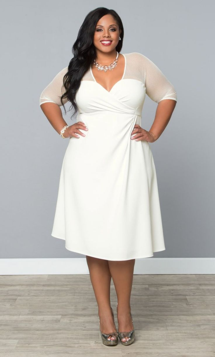 5 ways to wear a white plus size dress that you will love ...
