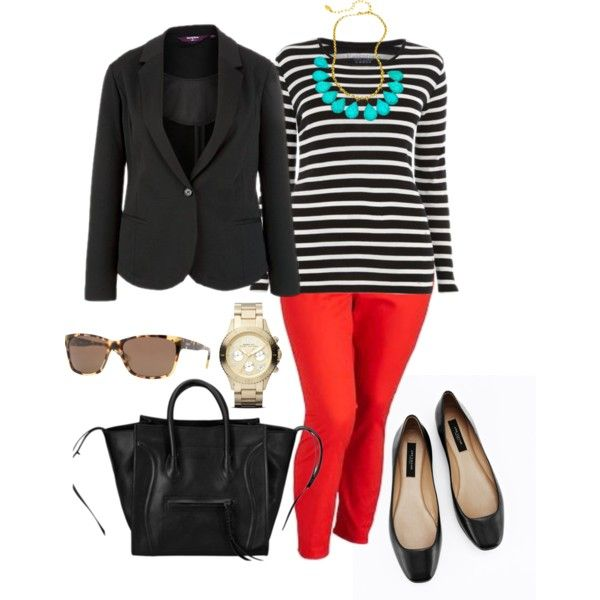 5 ways to wear plus size red pants in glamorous ways - 5-ways-to-wear-plus-size-red-pants-in-glamorous-ways