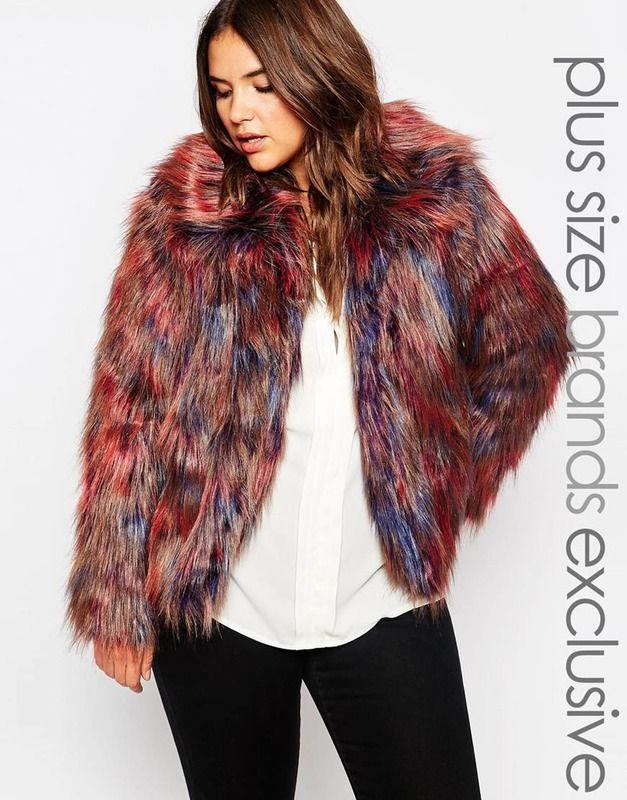 6c9959a1c2a Faux Fur Plus Size Coats You Gy Colored Jacket Curve Midi