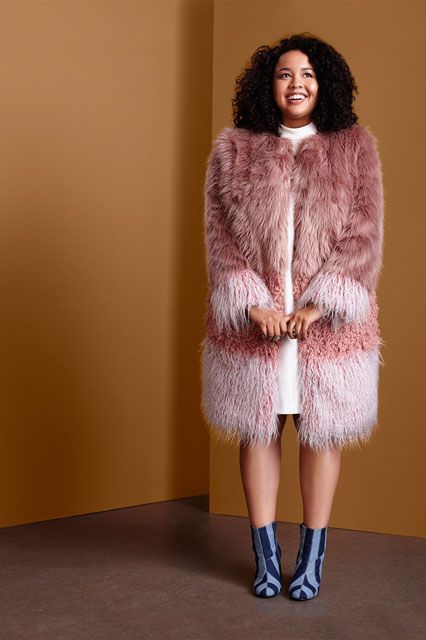 How to wear a plus size faux fur coat in style