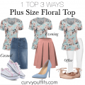 how to wear a plus size floral top 1 120x120 - 5 plus size floral shirts for romantic spring looks
