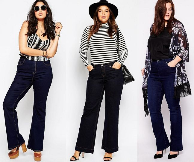 how-to-wear-plus-size-flared-jeans-in-spring-4 - curvyoutfits.com