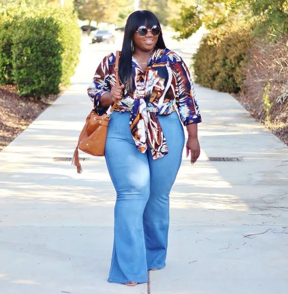 plus size flare jeans outfit1 - plus size flare jeans outfit1