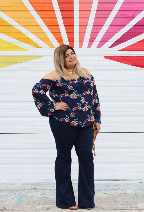 plus size flare jeans outfit2 - plus size flare jeans outfit2