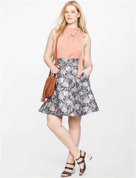 plus size floral skirt 10 - plus size floral skirt 10