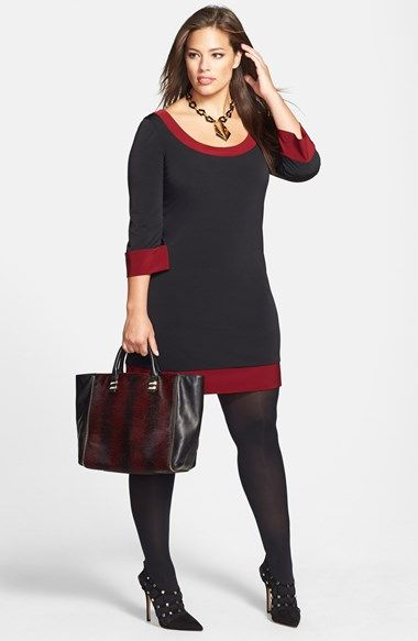 stylish color block dresses for plus size women 1 - Stylish color block dresses for plus size women