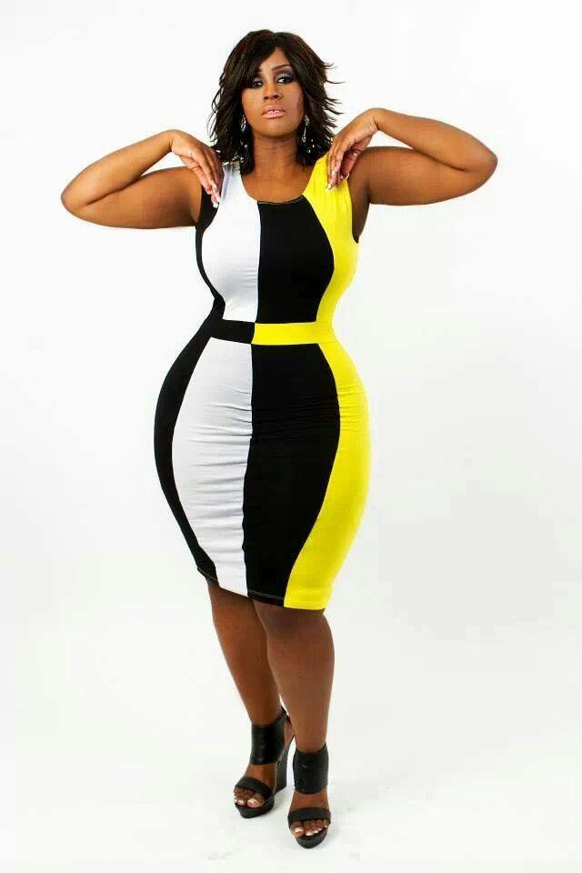 stylish color block dresses for plus size women 3 - stylish-color-block-dresses-for-plus-size-women-3