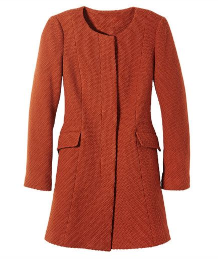 the right coats for petite plus size girls 4 - TALBOTS RED OVERCOAT