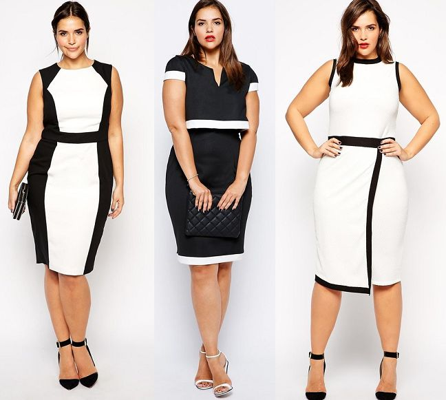 6150546131 5 chic black and white plus size dresses - curvyoutfits.com