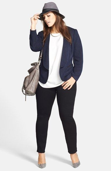 5 fashionable ways to wear a plus size tweed blazer 1 - 5-fashionable-ways-to-wear-a-plus-size-tweed-blazer-1