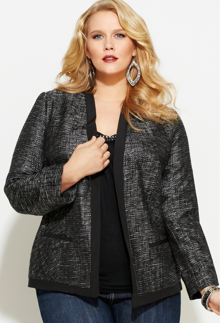 5 fashionable ways to wear a plus size tweed blazer 3 - 5-fashionable-ways-to-wear-a-plus-size-tweed-blazer-3