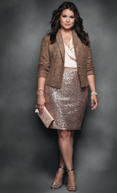 c058ff27ee2 5 fashionable ways to wear a plus size tweed blazer - Page 3 of 5 ...