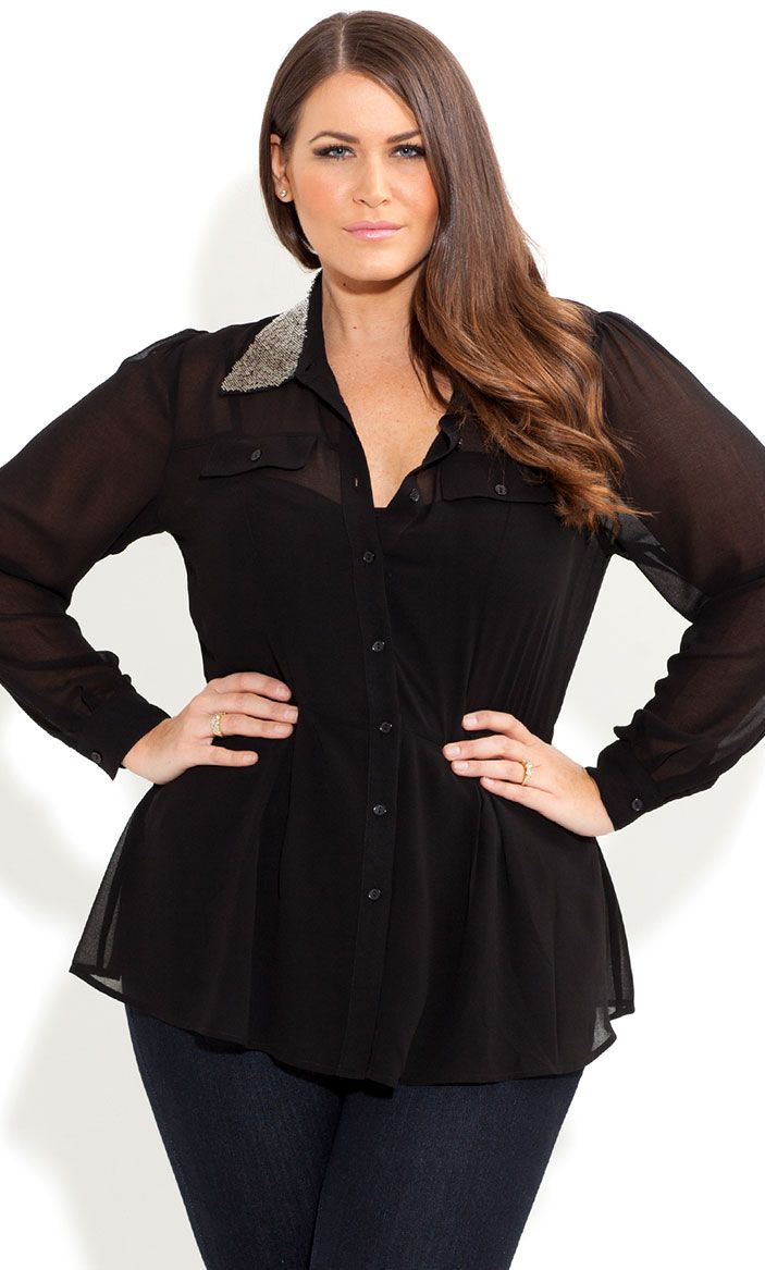 5 ways to be stylish with a plus size collared shirt 4 - 5-ways-to-be-stylish-with-a-plus-size-collared-shirt-4