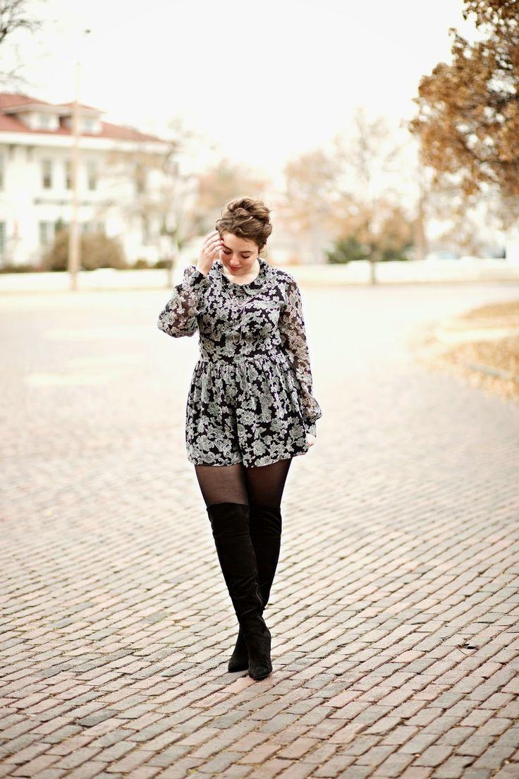 5 ways to wear a plus size floral garment 4 - 5-ways-to-wear-a-plus-size-floral-garment-4