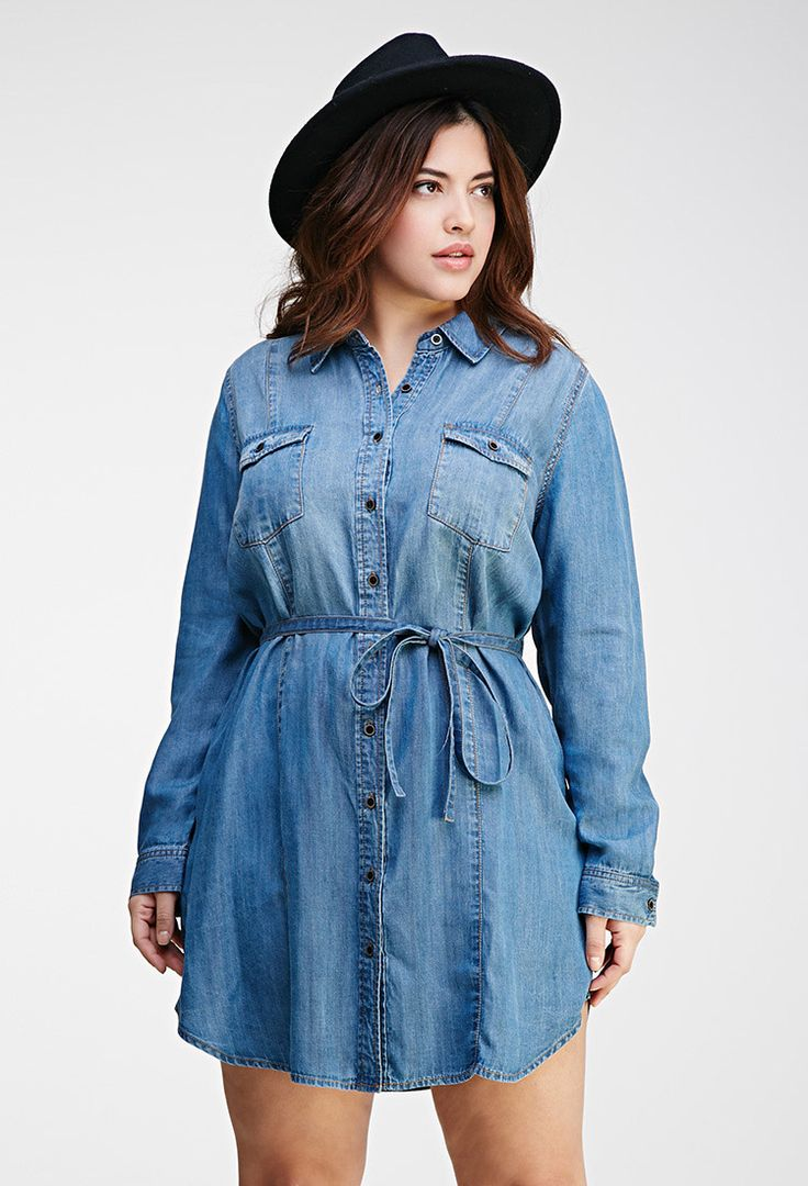 how to wear a plus size denim shirt in style 2 - how-to-wear-a-plus-size-denim-shirt-in-style-2