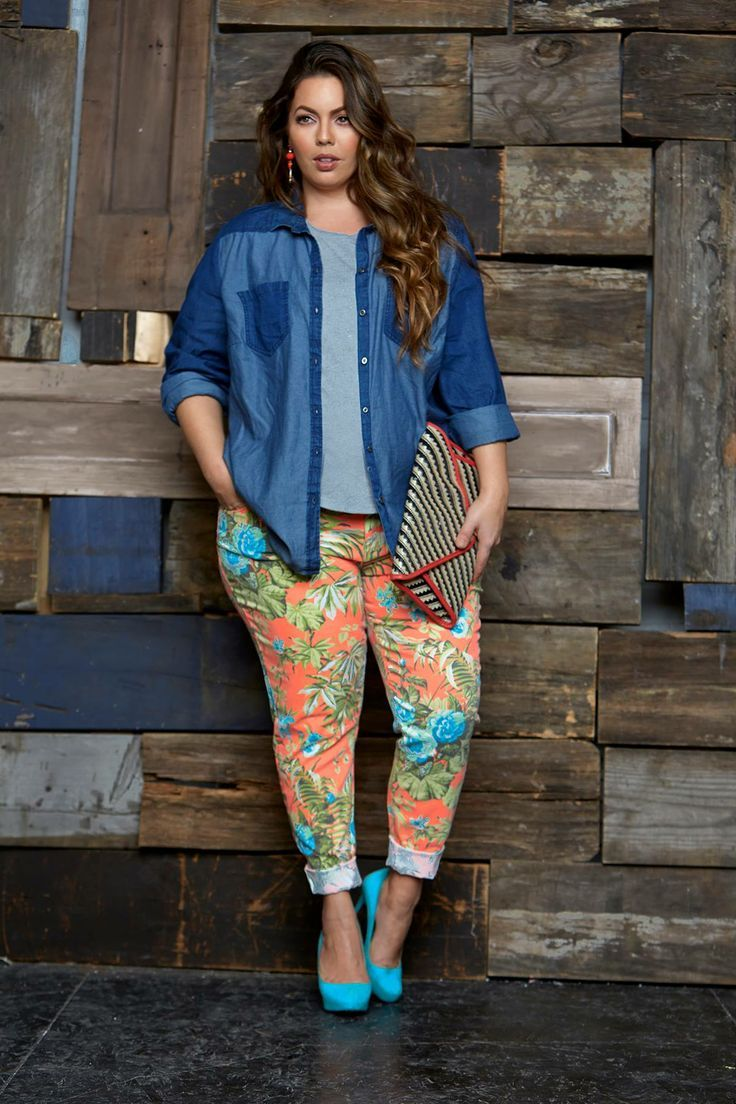 how to wear plus size floral pants and look elegant 3 - how-to-wear-plus-size-floral-pants-and-look-elegant-3