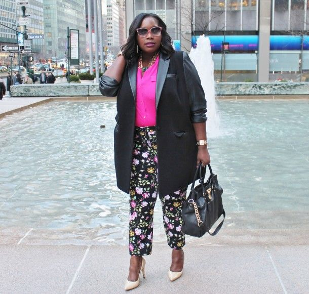 how to wear plus size floral pants and look elegant 4 - how-to-wear-plus-size-floral-pants-and-look-elegant-4