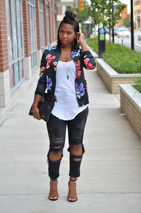 make your outfits glamorous with a floral bomber jacket - make-your-outfits-glamorous-with-a-floral-bomber-jacket