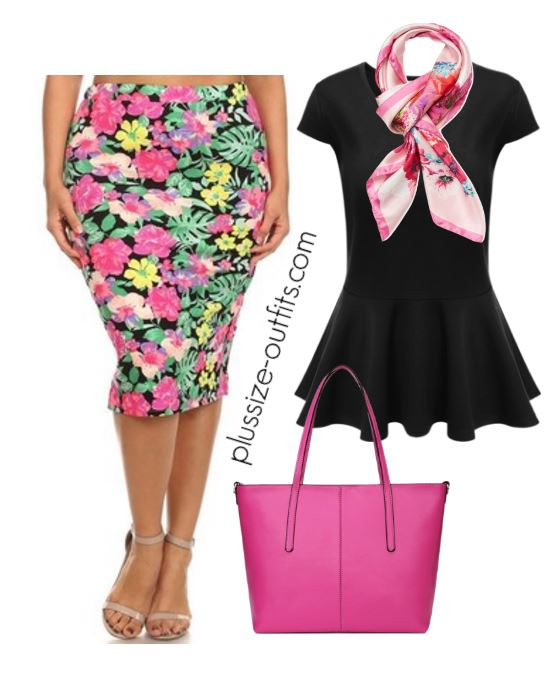 plus size floral print pencil skirt outfits 1 - plus size floral print pencil skirt outfits 1