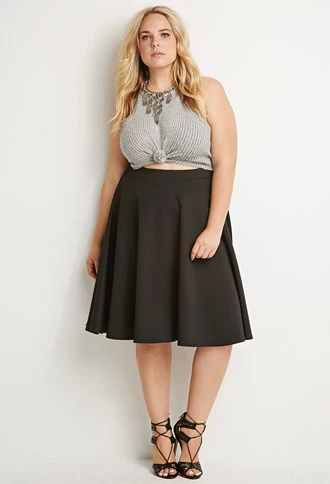 5 flattering black skirts for plus size women 1 - 5-flattering-black-skirts-for-plus-size-women-1