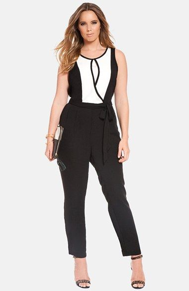 5 plus size jumpuits in black and white for spring styling 3 - 5-plus-size-jumpuits-in-black-and-white-for-spring-styling-3