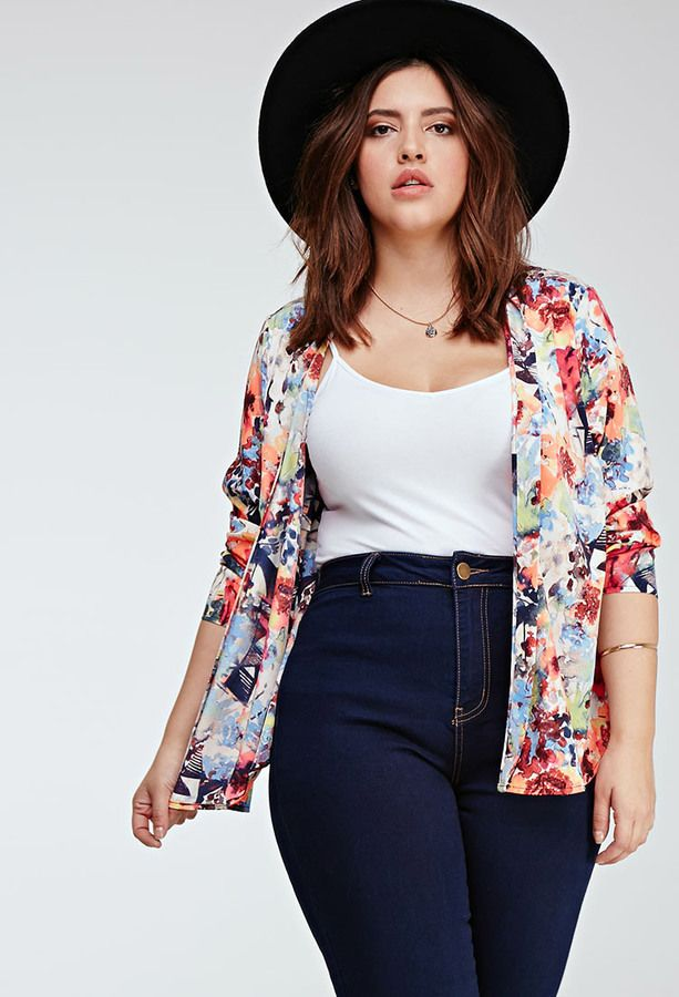 5 plus size outfits with high waisted jeans for spring 4 - 5 plus size outfits with high waisted jeans for spring