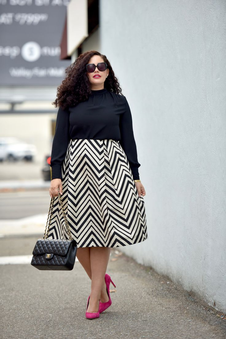 5-plus-size-striped-skirts-that-you-must-wear-stylishly-1
