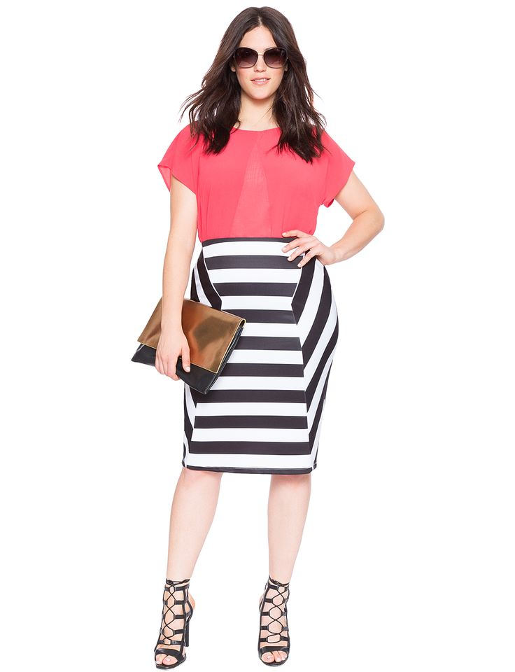 5 plus size striped skirts that you must wear stylishly 2 - 5-plus-size-striped-skirts-that-you-must-wear-stylishly-2