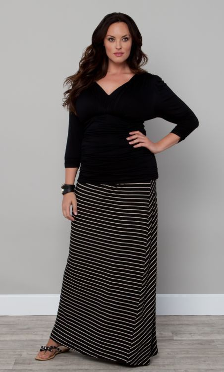 5 plus size striped skirts that you must wear stylishly - 5-plus-size-striped-skirts-that-you-must-wear-stylishly
