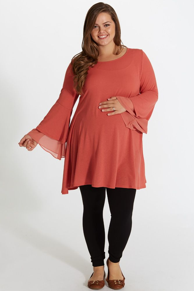 dd6aaf0e19b 5 spring plus size outfits for pregnant women - curvyoutfits.com