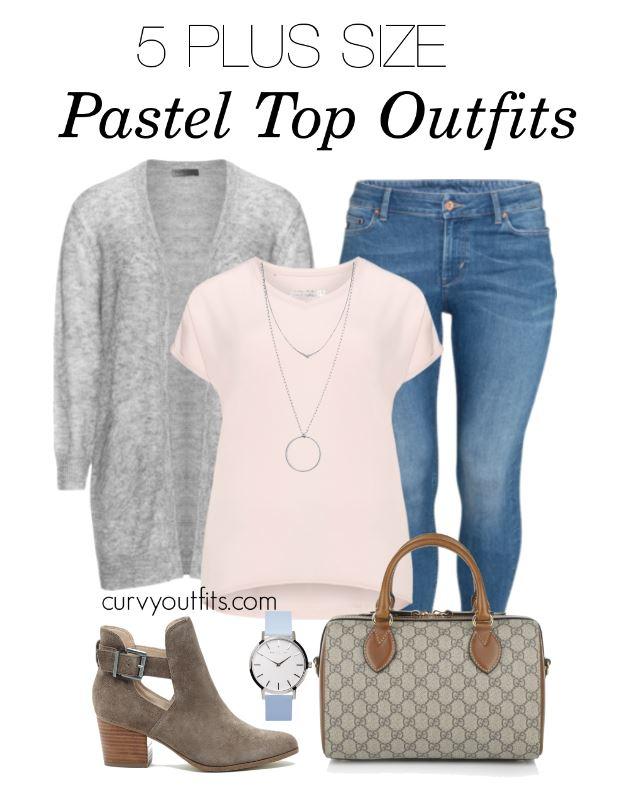 5 stylish ways to wear a plus size pastel top 5 - 5-stylish-ways-to-wear-a-plus-size-pastel-top