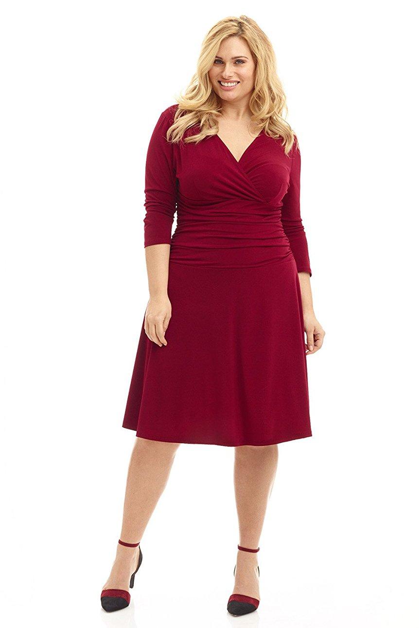 5 ways to wear a burgundy plus size dress 6 - 5-ways-to-wear-a-burgundy-plus-size-dress-6