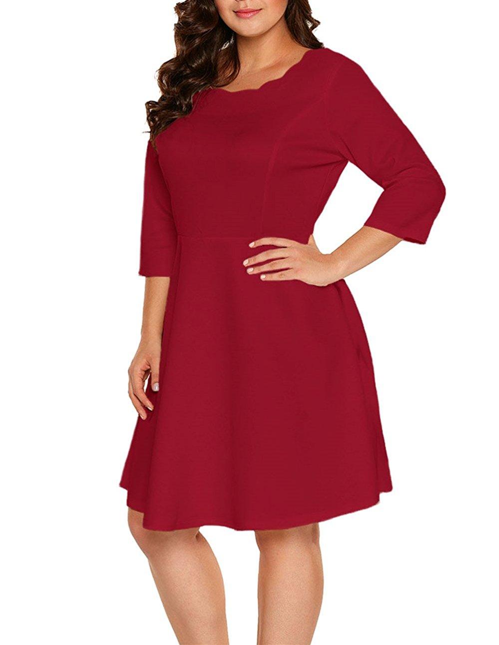 5 ways to wear a burgundy plus size dress 7 - 5-ways-to-wear-a-burgundy-plus-size-dress-7
