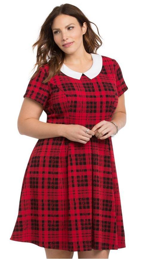 5 ways to wear a plus size plaid dress this spring 5 - 5 ways to wear a plus size plaid dress this spring (5)